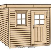 Szerkezeti rajz Weka 170-es faház