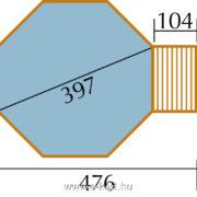 Kerti medence építés 4m