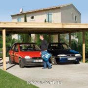 Nyitott garázs dupla autó beálló