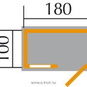 szerszámtároló alapozási rajza 345