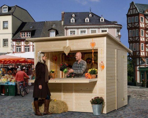 Vásári pavilon árusító faház