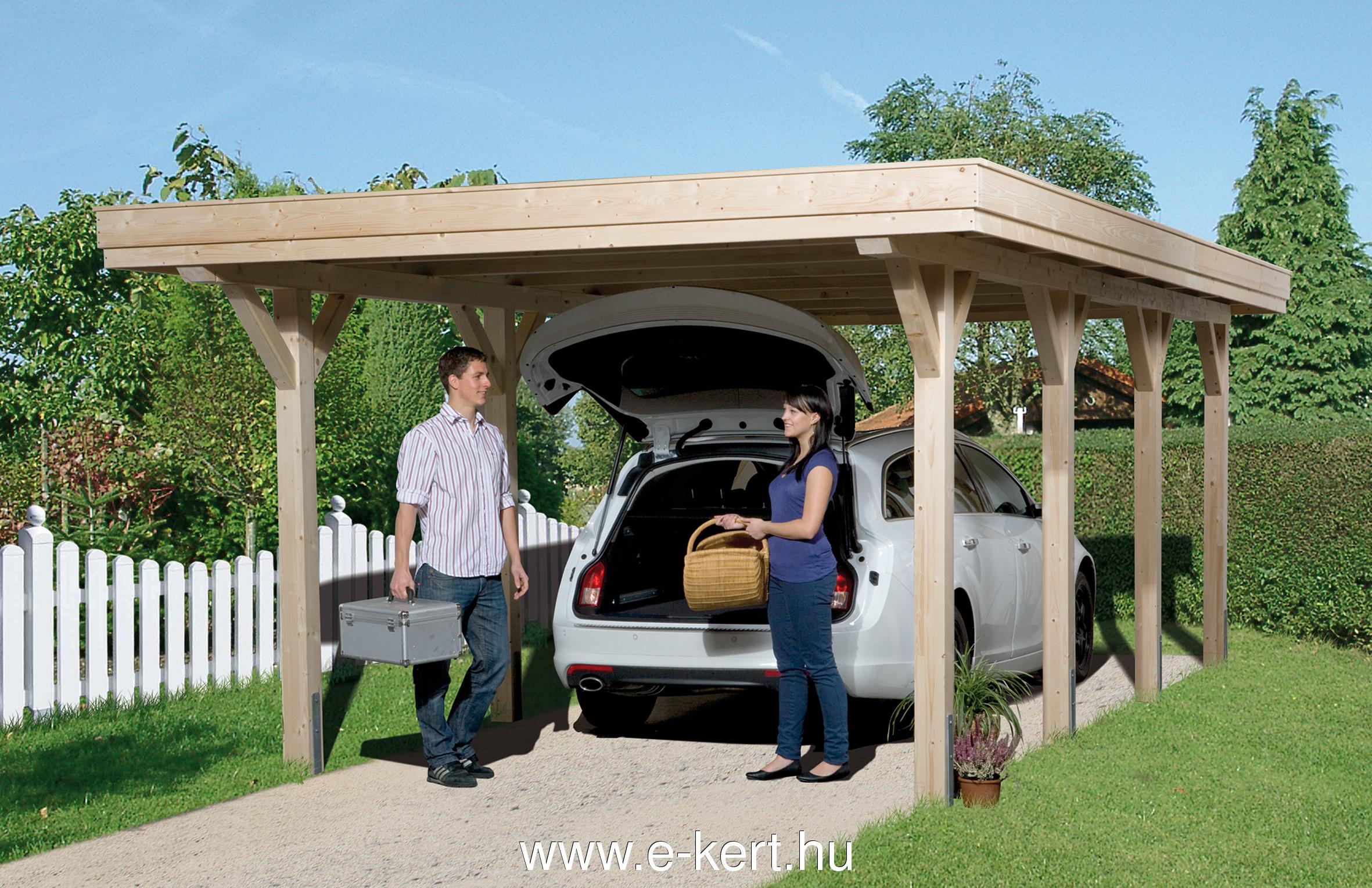 Minőségi garázs ragasztott faanyagból Comfort 615/1