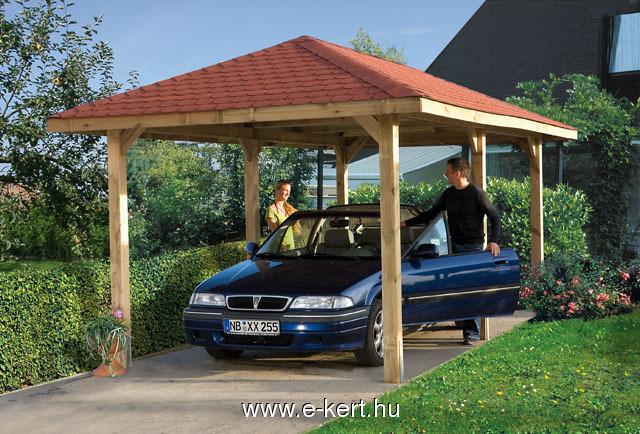 Nyitott garázs kerti pavilon Weka szaletli VarioX