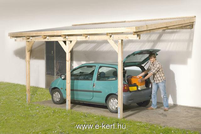 Terasztető nyitott garázs Weka 671 előtető