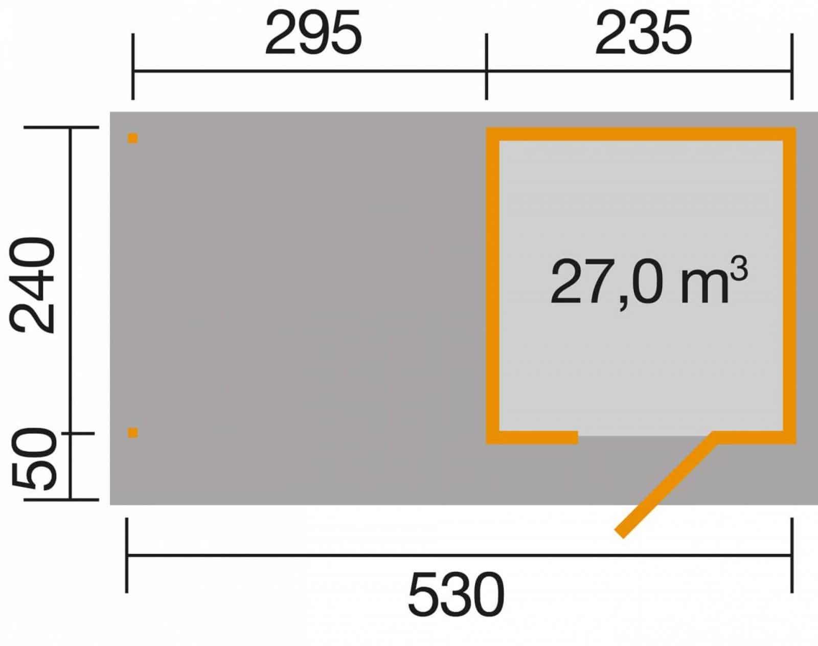 Faház terasztetővel Wekaline172