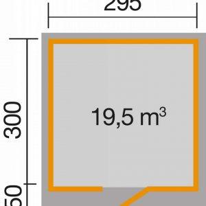 Szerszámtároló faház alaprajz Wekaline 172