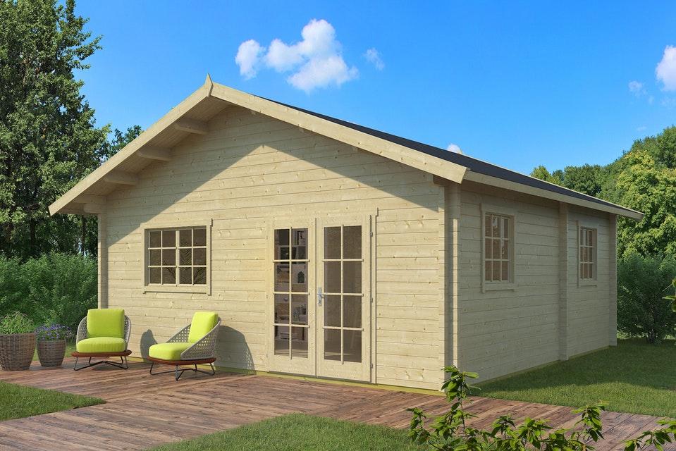 Hétvégi faház Weka703 gerendaház 3 méretben 70 mm