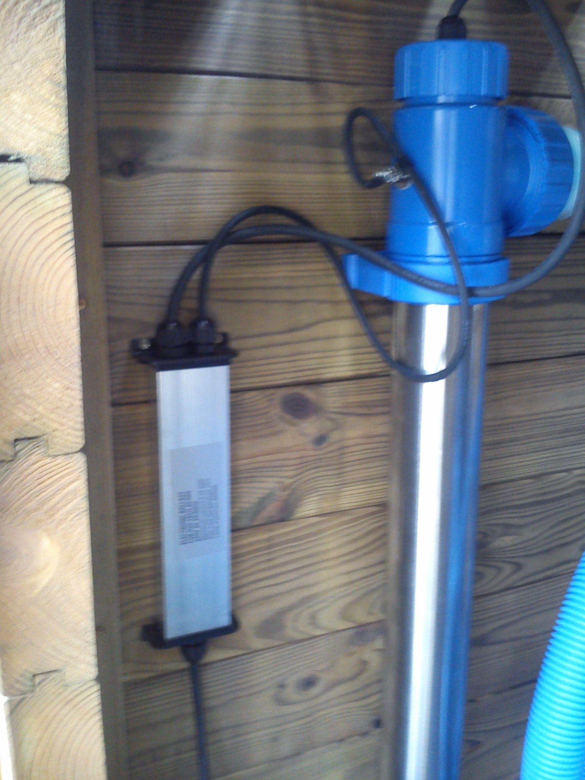 UV-C lámpa víztisztító medencéhez