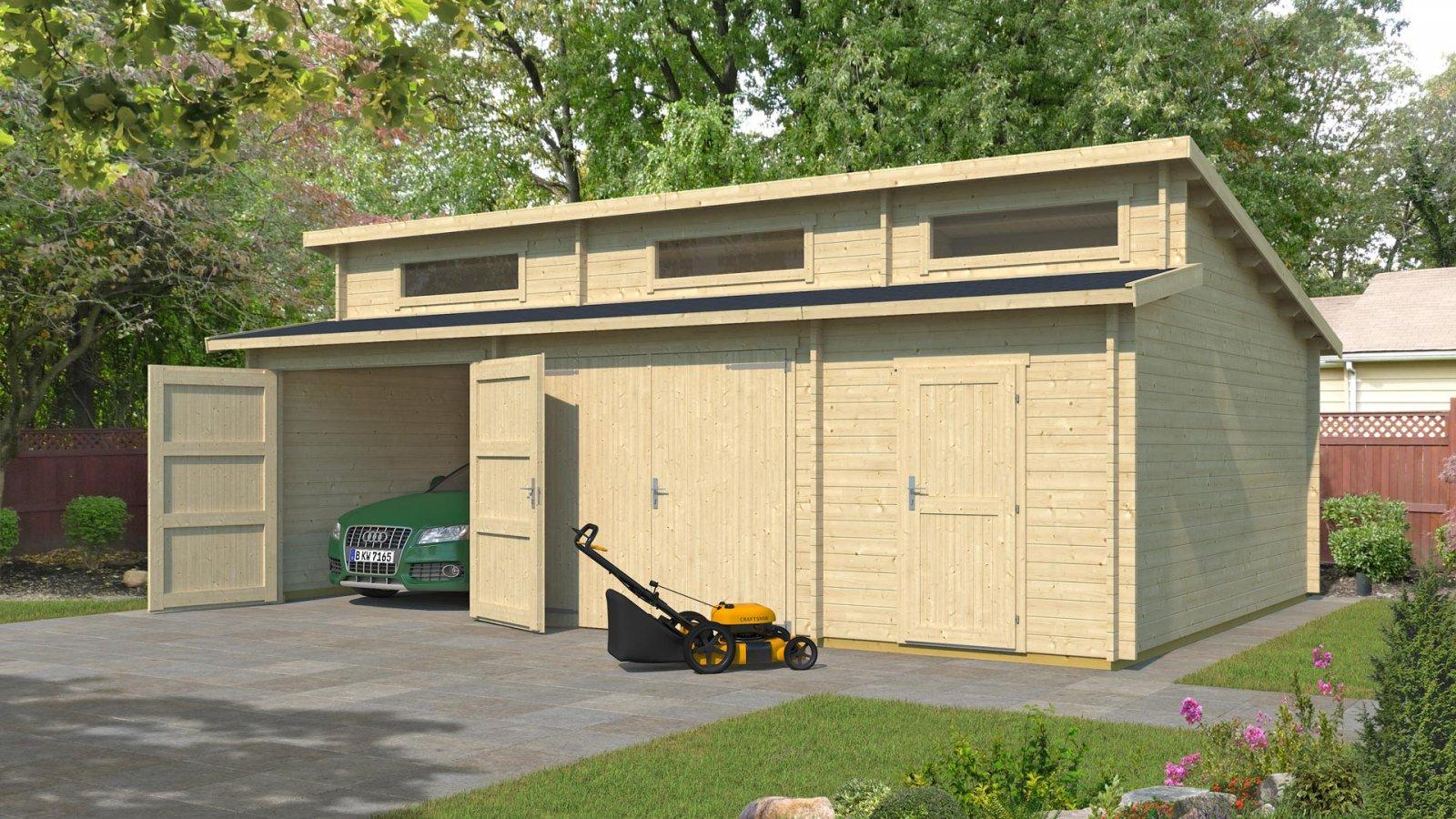 Zárt garázs faház Weka441